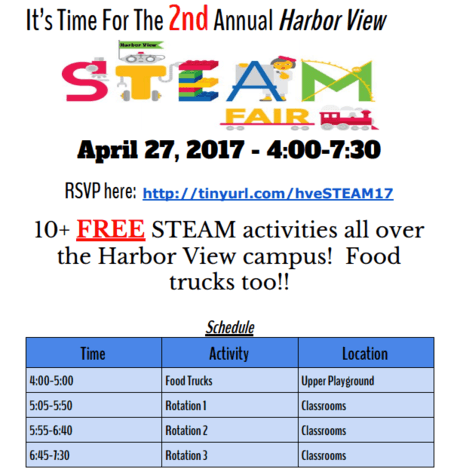 2nd Annual Family STEAM Night information